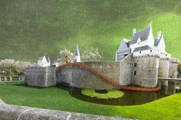 paysage glissé voyage à nantes château