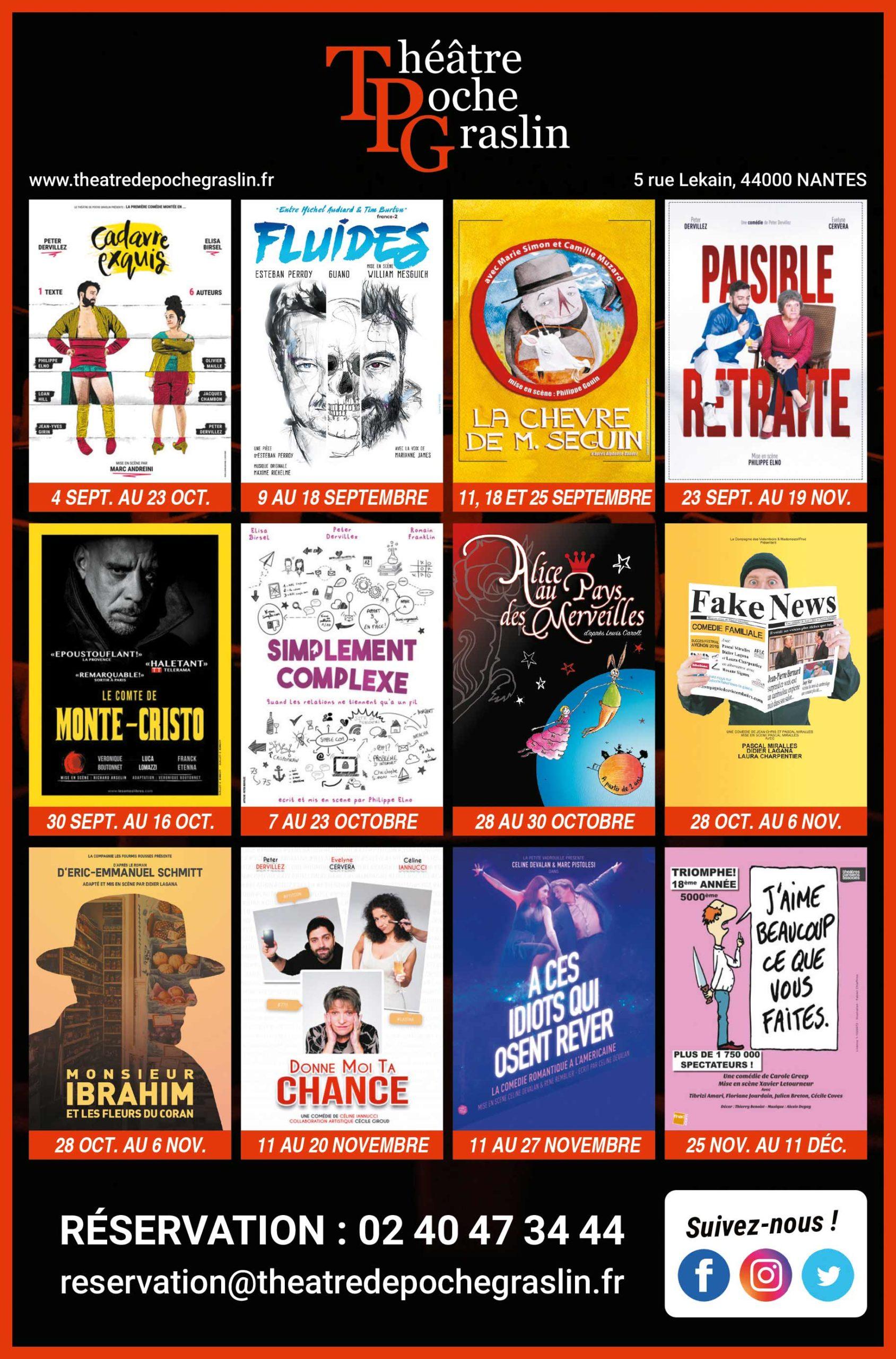 Programme 2021/2022 du Théâtre de Poche Graslin
