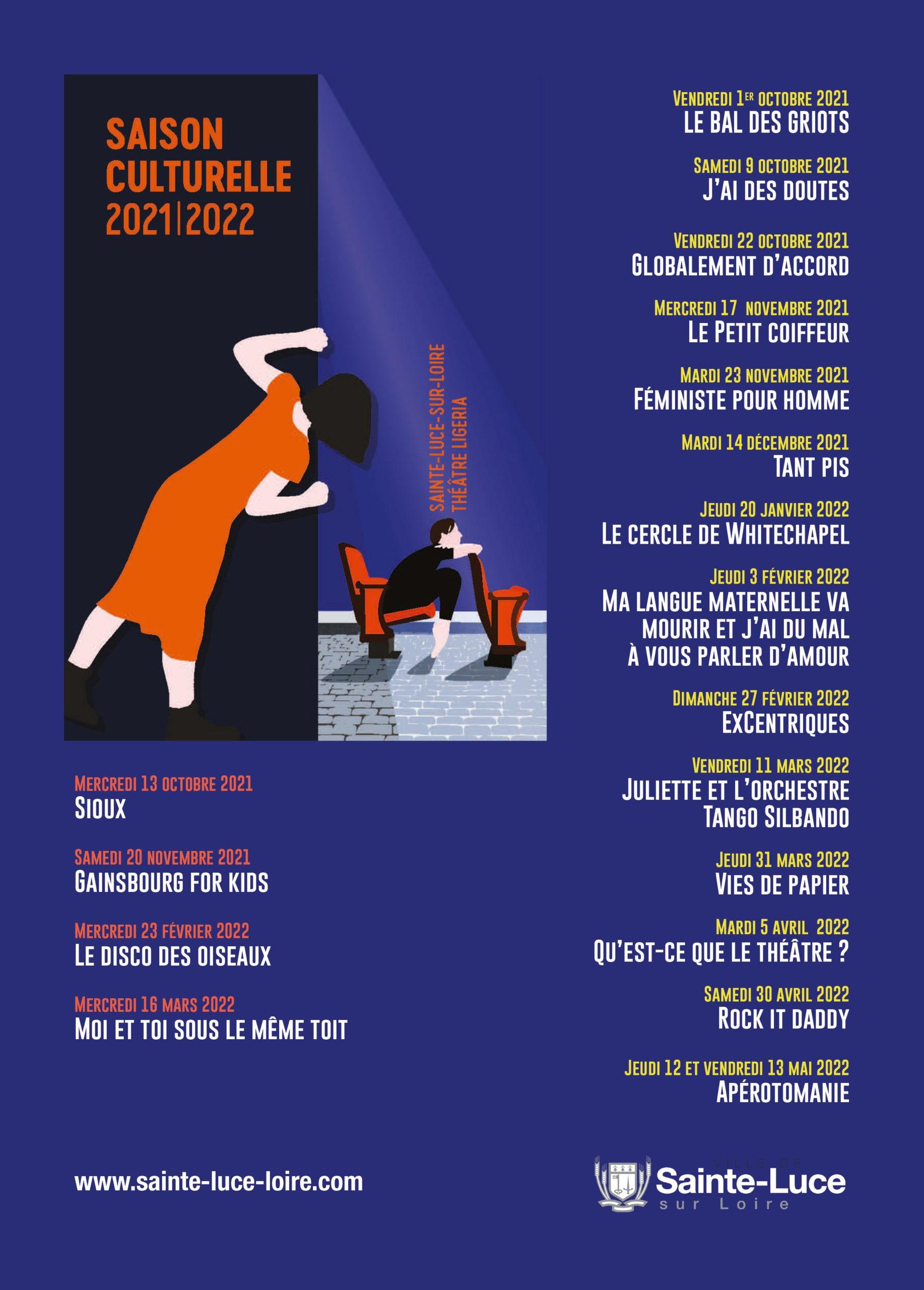 Programme 2021/2022 du théâtre Ligéria